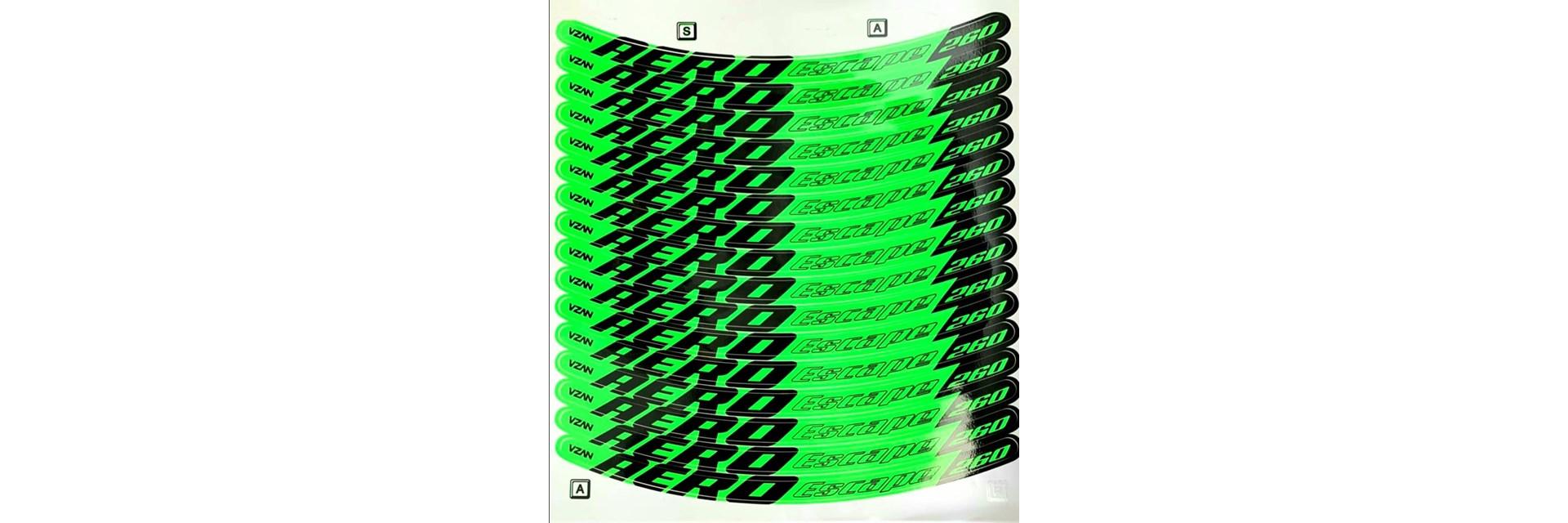 Adesivo Escape V-Brake Verde Neon - Aro 24/ 26/ 26X1.1/2