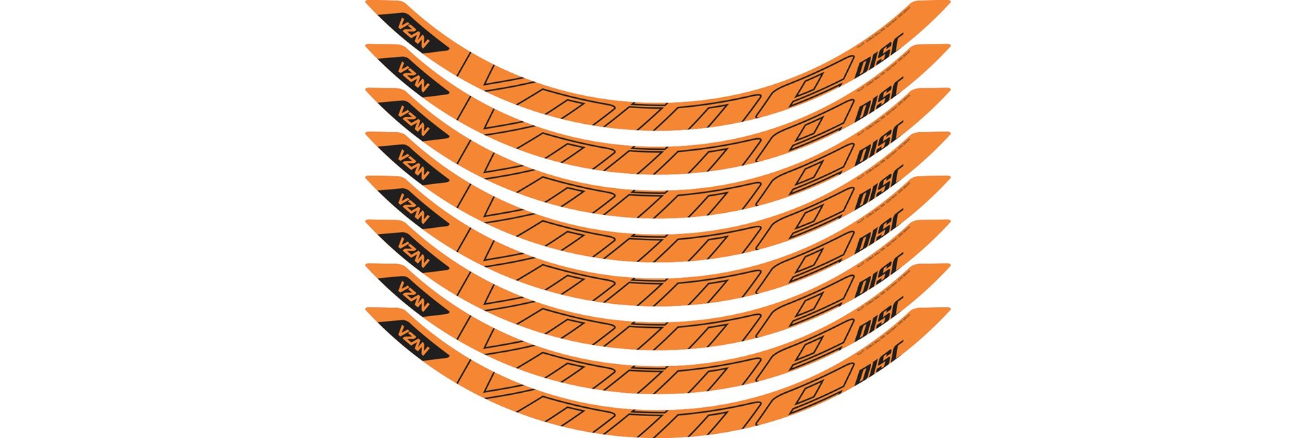Adesivo Vnine 29 Disc Laranja Neon